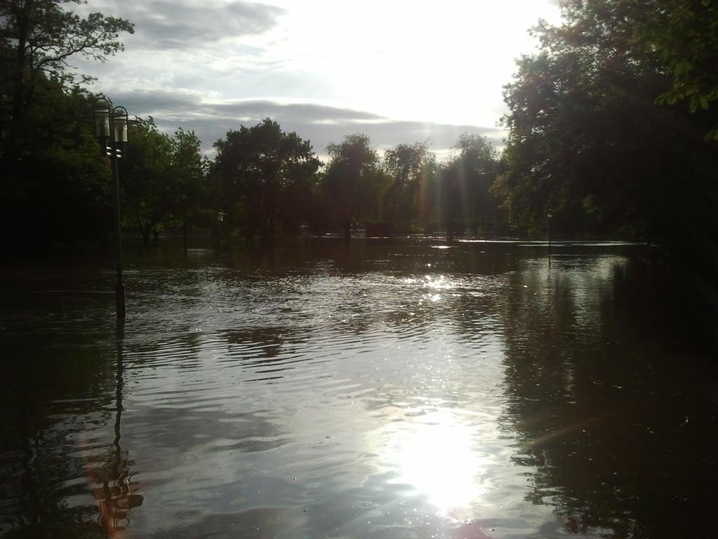 Die überschwemmte Peißnitz am 6.3.13